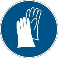 BRADY Gebotsschilder - Schutzhandschuhe benutzen PIC 255-DIA 200-B7525 255110