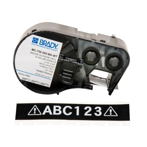 BRADY Band für BMP41/BMP51/BMP53 Etikettendrucker MC-750-595-BK-WT 143384