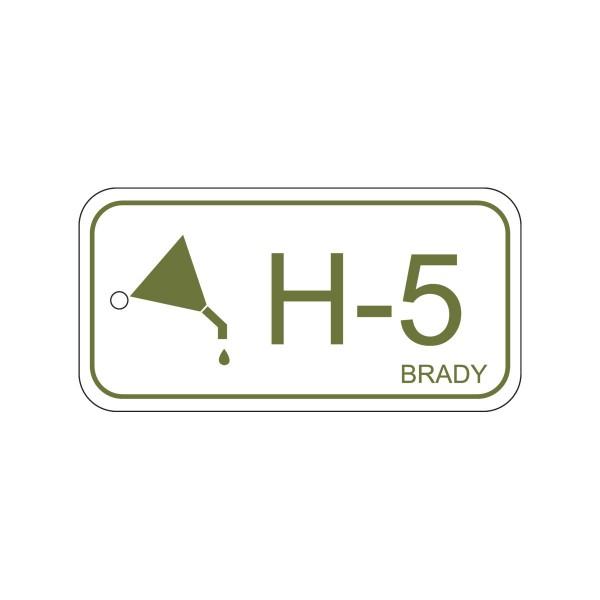 BRADY Anhänger für Energiequellen–Hydraulik ENERGY TAG-H-5-75X38MM-PP/25 138745