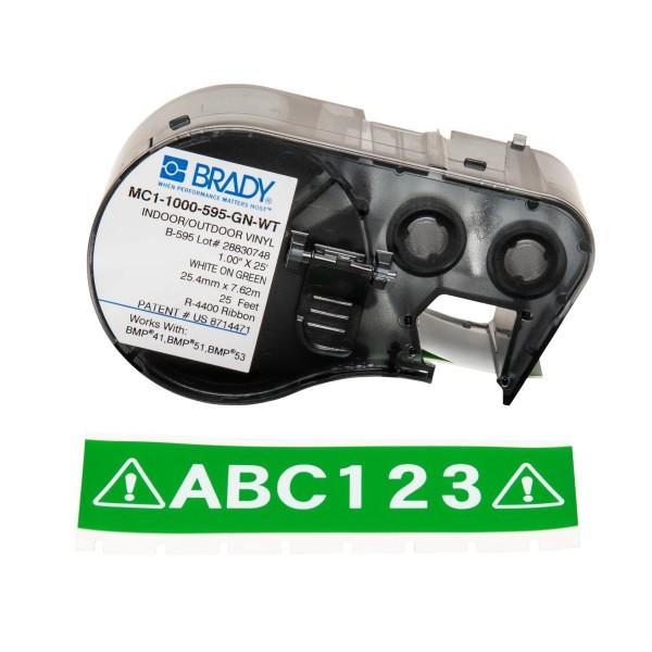 BRADY Band für BMP41/BMP51/BMP53 Etikettendrucker MC1-1000-595-GN-WT 131598