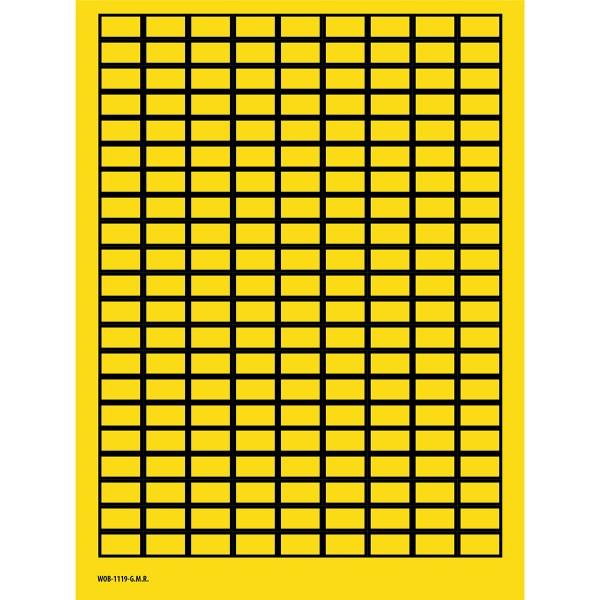 BRADY Beschriftbare Etiketten auf Bögen - 11 x 19 mm - B-500 WOB-1119-G.M.R. 101807