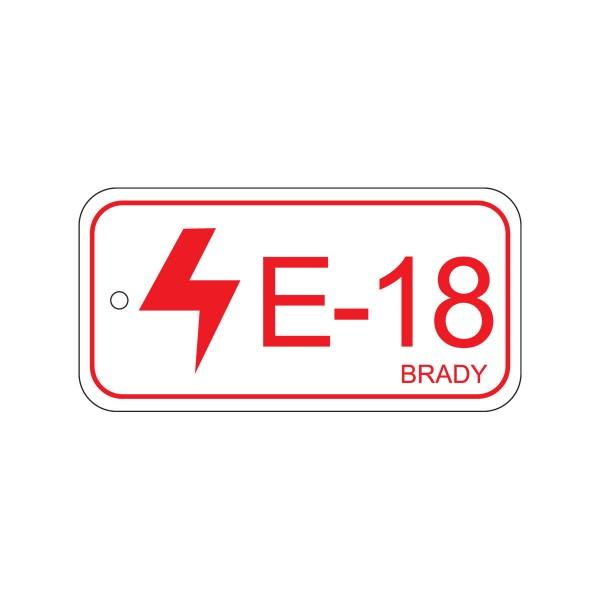 BRADY Anhänger für Energiequellen–Bedienfeld ENERGY TAG-E-18-75X38MM-PP/25 138836