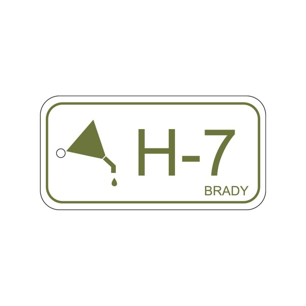 BRADY Anhänger für Energiequellen–Hydraulik ENERGY TAG-H-7-75X38MM-PP/25 138747