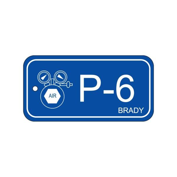 BRADY Anhänger für Energiequellen–Pneumatik ENERGY TAG-P-6-75X38MM-PP/25 138739