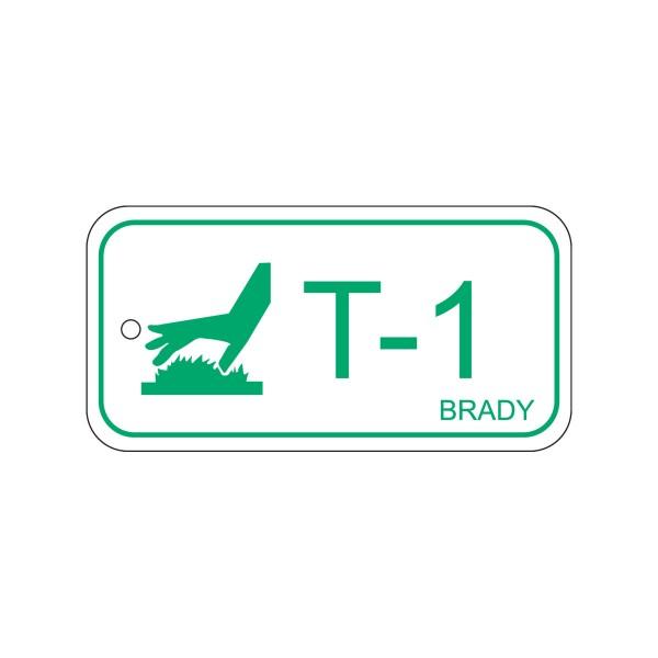 BRADY Anhänger für Energiequellen–Hohe Temperaturen ENERGY TAG-T-1-75X38MM-PP/25 138434