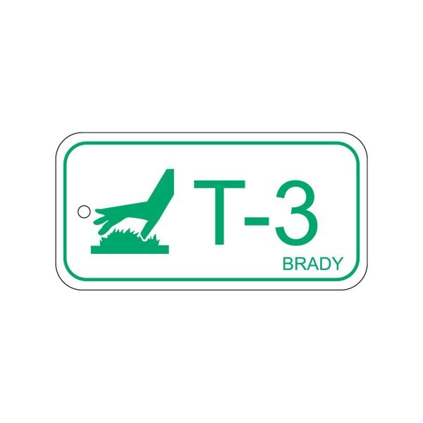 BRADY Anhänger für Energiequellen–Hohe Temperaturen ENERGY TAG-T-3-75X38MM-PP/25 138438