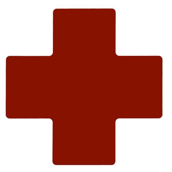 BRADY Eckemarkierung - Kreuze - 101,6mm x 254mm Rote Toughstripe Floor Marki TPLUS3 RED 104478