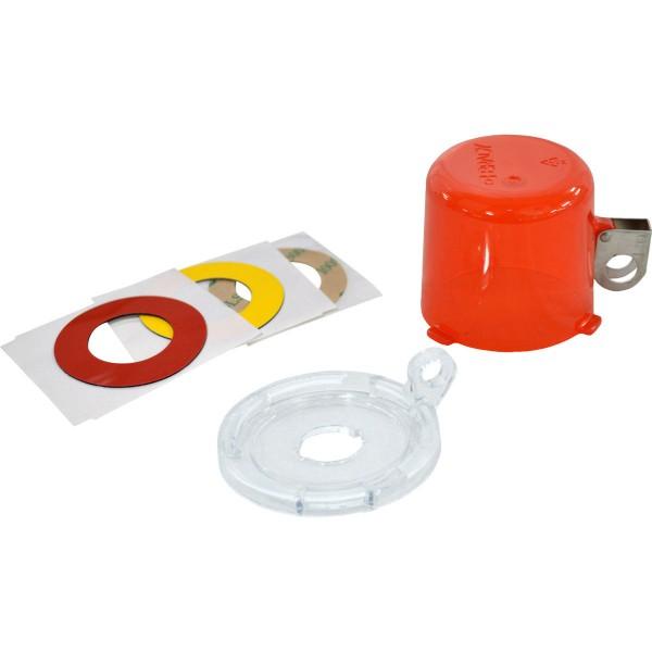 BRADY Lockout-Vorrichtung für Drucktasten (16 mm), Rot, mit Standardabdeckun 16MM PUSH BUTTON LO DEV