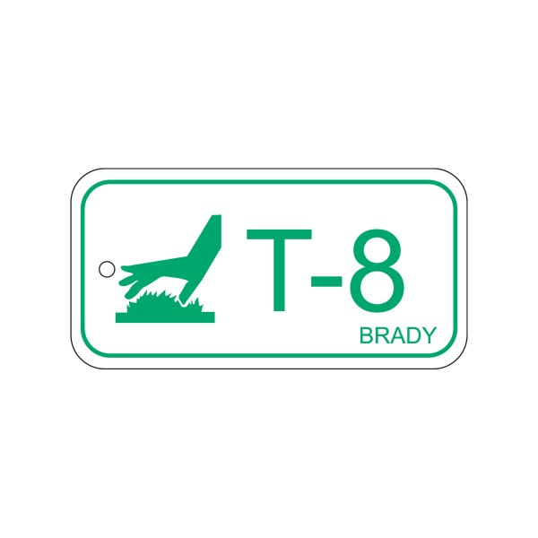 BRADY Anhänger für Energiequellen–Hohe Temperaturen ENERGY TAG-T-8-75X38MM-PP/25 138784