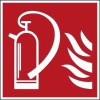 BRADY Brandschutzkennzeichnung: Feuerlöscher PIC-295G-100X100-B7527 800354