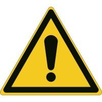 BRADY Allgemeines Warnschild – ISO 7010 W/W001/NT-SA-TRI 20/15-B 139004