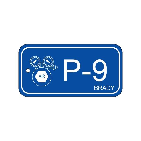 BRADY Anhänger für Energiequellen–Pneumatik ENERGY TAG-P-9-75X38MM-PP/25 138742