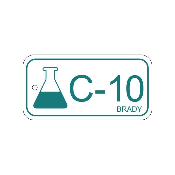 BRADY Anhänger für Energiequellen–Chemie ENERGY TAG-C-10-75X38MM-PP/25 138772