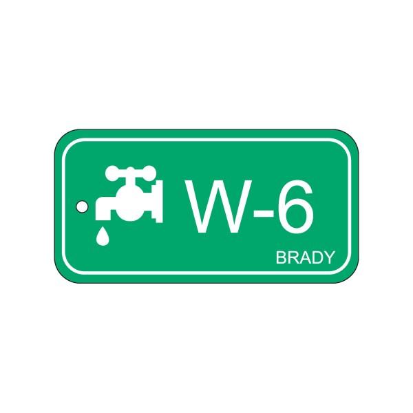 BRADY Anhänger für Energiequellen–Wasser ENERGY TAG-W-6-75X38MM-PP/25 138751