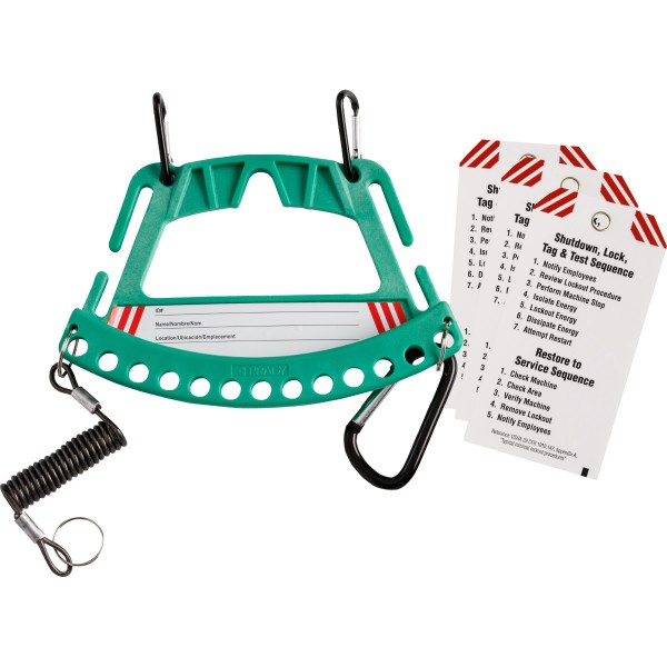 BRADY Träger für Sicherheitsschlösser und Anhänger–Grün SAFETY LOCK & TAG CARRIER - GREEN 148861