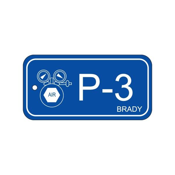 BRADY Anhänger für Energiequellen–Pneumatik ENERGY TAG-P-3-75X38MM-PP/25 138407