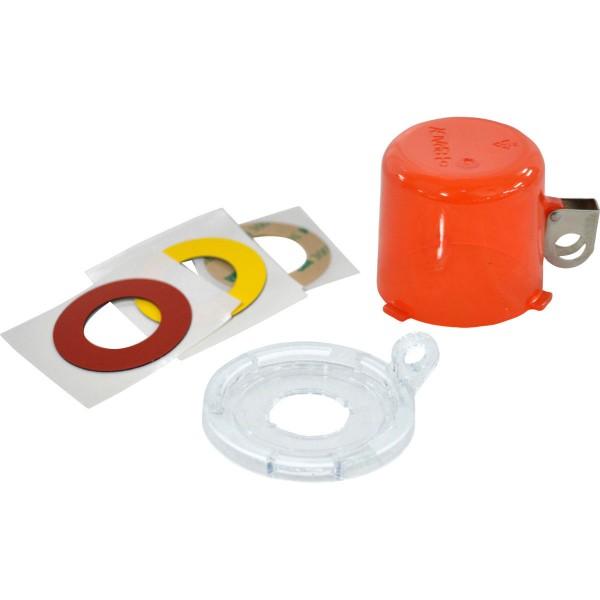 BRADY Lockout-Vorrichtung für Drucktasten (22 mm), Rot, mit Standardabdeckun 22MM PUSH BUTTON LO DEV