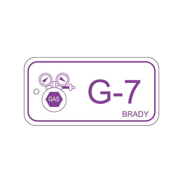 BRADY Anhänger für Energiequellen–Gas ENERGY TAG-G-7-75X38MM-PP/25 138757