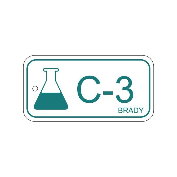 BRADY Anhänger für Energiequellen–Chemie ENERGY TAG-C-3-75X38MM-PP/25 138430