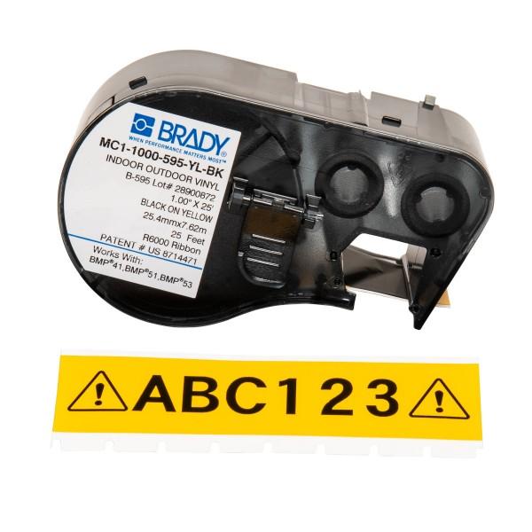 BRADY Band für BMP41/BMP51/BMP53 Etikettendrucker MC1-1000-595-YL-BK 131583