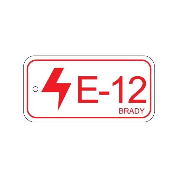 BRADY Anhänger für Energiequellen–Bedienfeld ENERGY TAG-E-12-75X38MM-PP/25 138830