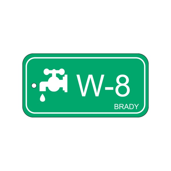BRADY Anhänger für Energiequellen–Wasser ENERGY TAG-W-8-75X38MM-PP/25 138753