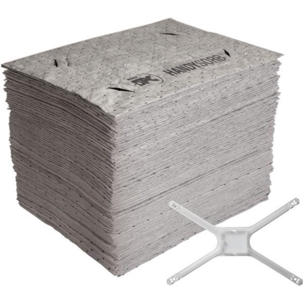 BRADY HandySorb-Moppsystem, universelle Basis-Nachfülltücher mit Moppadapter HANDYSORB-BASICPAD 1505