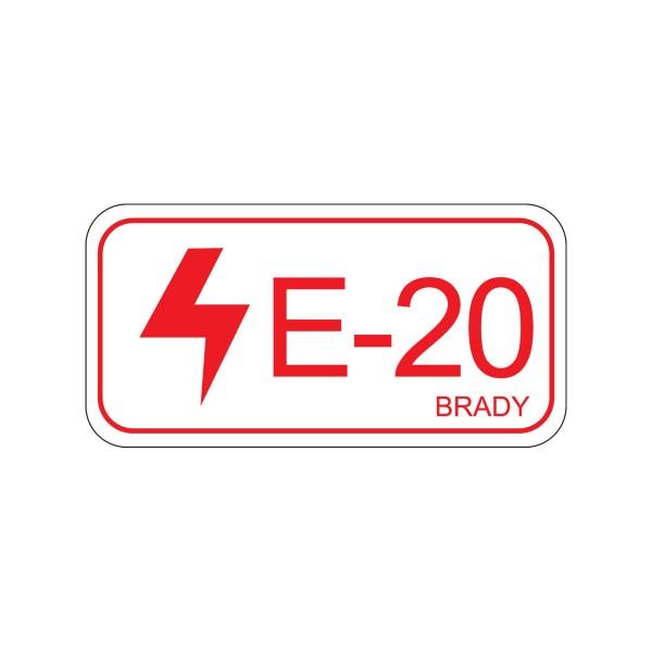 BRADY Etikett für Energiequellen–Elektrik ENERGY TAG-E-20-75X38MM-SA/5 138828