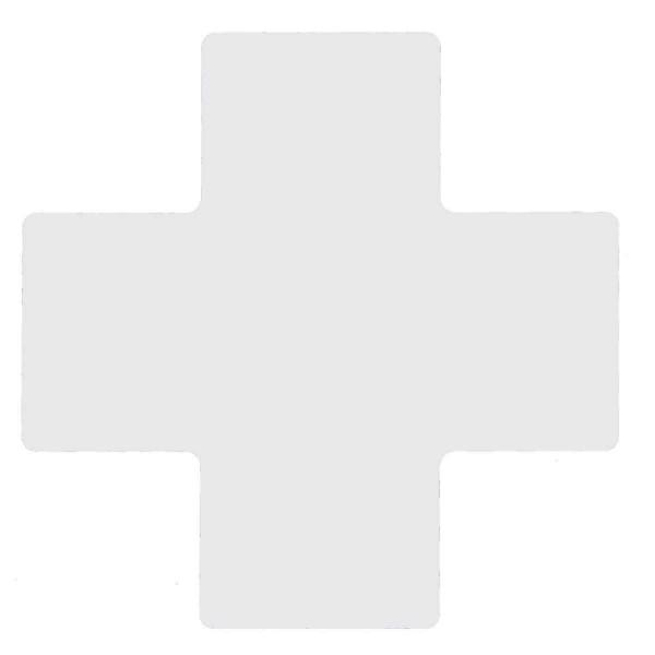 BRADY Eckemarkierung - Kreuze - 101,6mm x 254mm Weisse Toughstripe Floor Mar WHITE B-514 FLOOR CROSS
