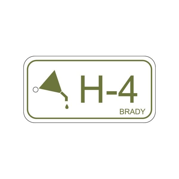 BRADY Anhänger für Energiequellen–Hydraulik ENERGY TAG-H-4-75X38MM-PP/25 138744