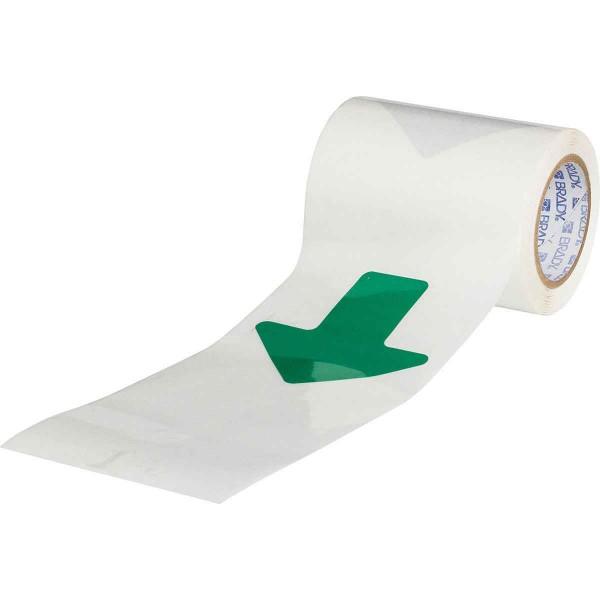 BRADY ToughStripe - Gestanzte Formen mit vordefinierten Abständen GREEN B-514 FLOOR ARWS SP 50,80 X