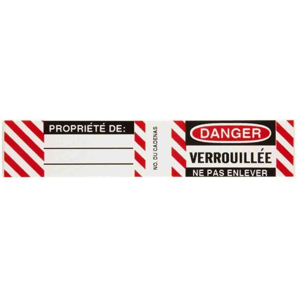 BRADY Etiketten für Stahlvorhängeschlösser B826/B674 LOCKOUT LABELS 6 SETS / PK 50283