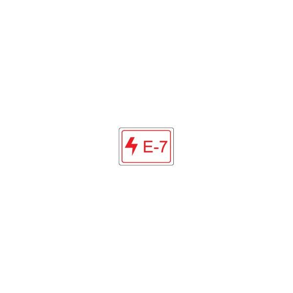 BRADY Etikett für Energiequellen–Elektrik ENERGY TAG-E-7-19X13MM-SA/100 138458