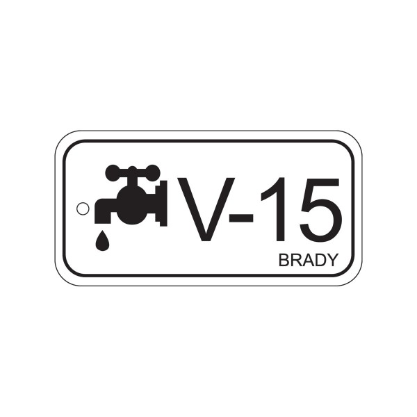 BRADY Anhänger für Energiequellen–Ventil ENERGY TAG-V-15-75X38MM-PP/25 138796