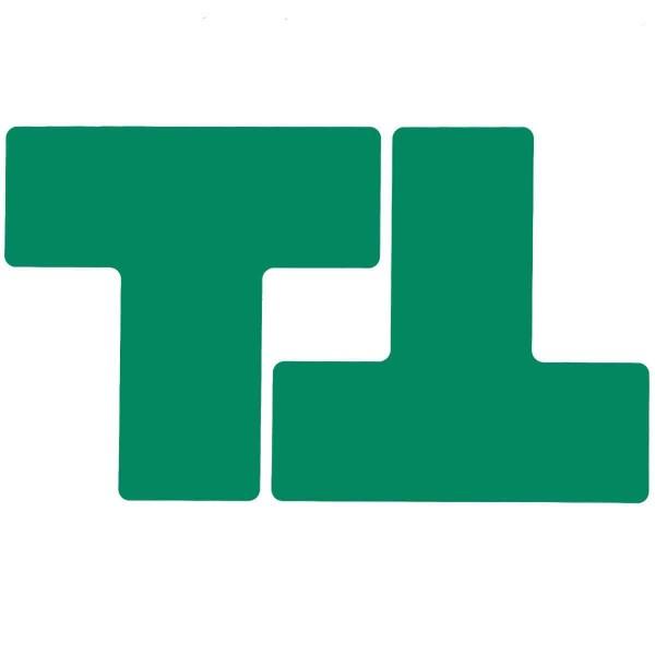 BRADY Eckemarkierung - Ts - 76,2mm x 203,2mm Grüne Toughstripe Floor Marking GREEN B-514 FLOOR TS 76