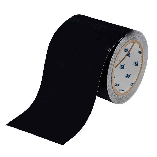 BRADY Bodenmarkierung - 101,6mm Schwarze Toughstripe Polyester BLACK FLOOR TAPE 101,6 X 30 104370
