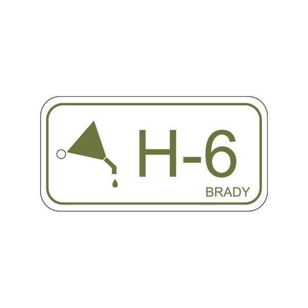 BRADY Anhänger für Energiequellen–Hydraulik ENERGY TAG-H-6-75X38MM-PP/25 138746