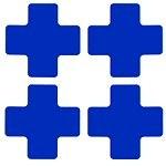 BRADY Eckemarkierung - Kreuze - 50,8mm x 127mm Blaue Toughstripe Floor Mark BLUE FLOOR CROSSES 50,8