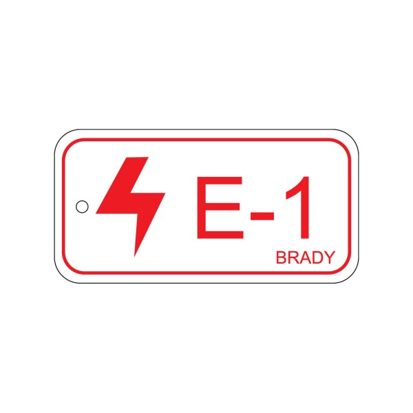BRADY Anhänger für Energiequellen–Elektrik ENERGY TAG-E-1-75X38MM-SAPP/25 138399