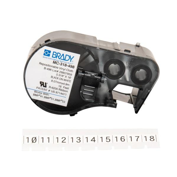 BRADY Etiketten für BMP41/BMP51/BMP53 Etikettendrucker MC-318-498 143329