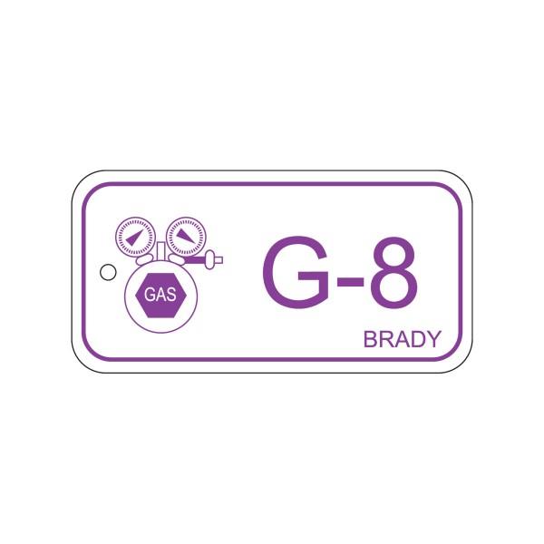 BRADY Anhänger für Energiequellen–Gas ENERGY TAG-G-8-75X38MM-PP/25 138758