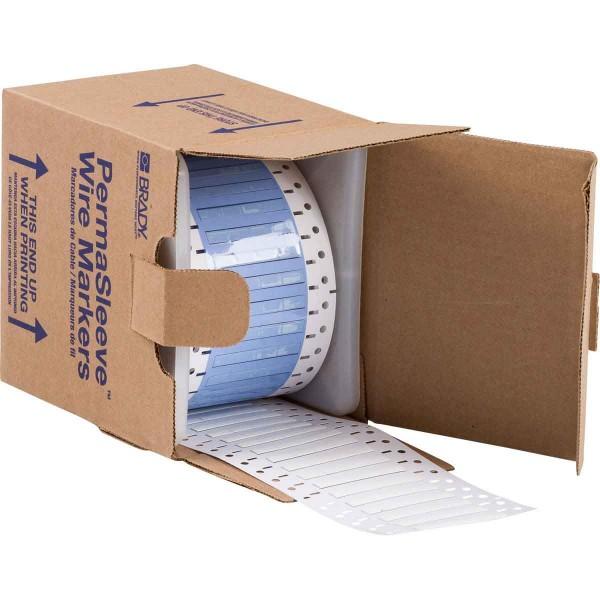 BRADY PermaSleeve Schrumpfschläuche zur Kabelkennzeichnung PS-125-2-WT-S-4 104775