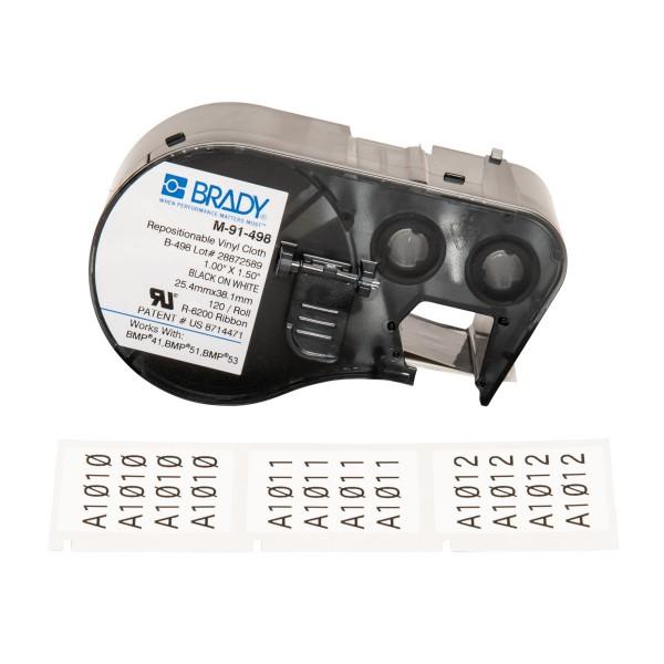 BRADY Etiketten für BMP41/BMP51/BMP53 Etikettendrucker M-91-498 131578