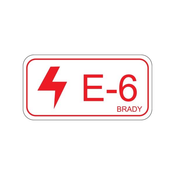 BRADY Etikett für Energiequellen–Elektrik ENERGY TAG-E-6-75X38MM-SA/5 138467