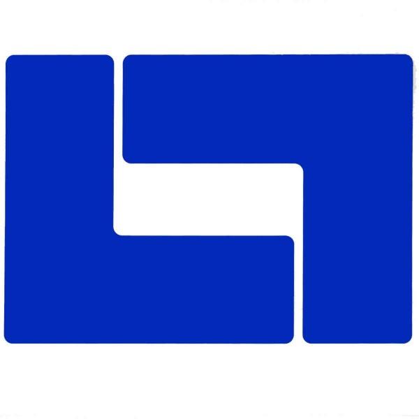 BRADY Eckemarkierung - Ls - 76,2mm x 203,2mm Blaue Toughstripe Floor Marking BLUE B-514 FLOOR LS 76,