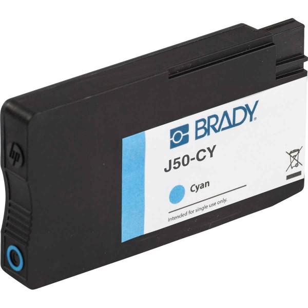 BRADY Tintenpatrone für den BradyJet J5000-Drucker auf Basis von cyanfarbige J50-CY 148763