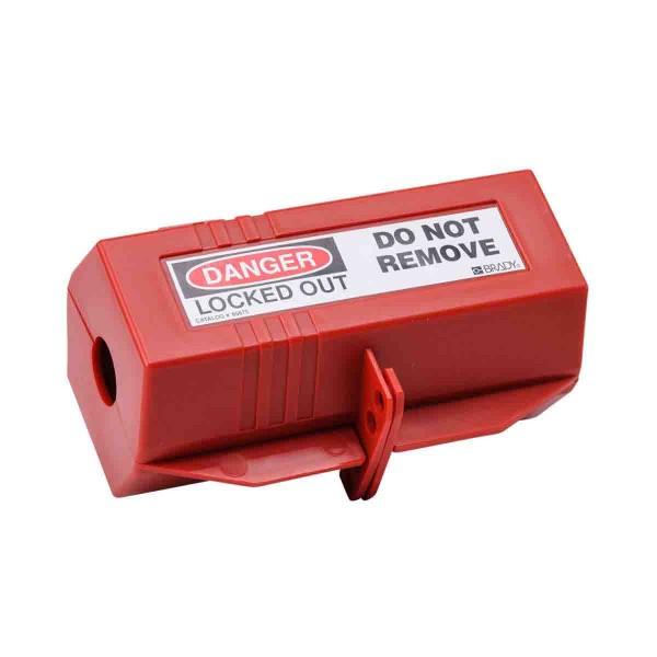 BRADY Absperrung für Steckerverbindungen 220 V - groß PLUG LOCKOUT 220/550V W/ DANGER LABELS 65675