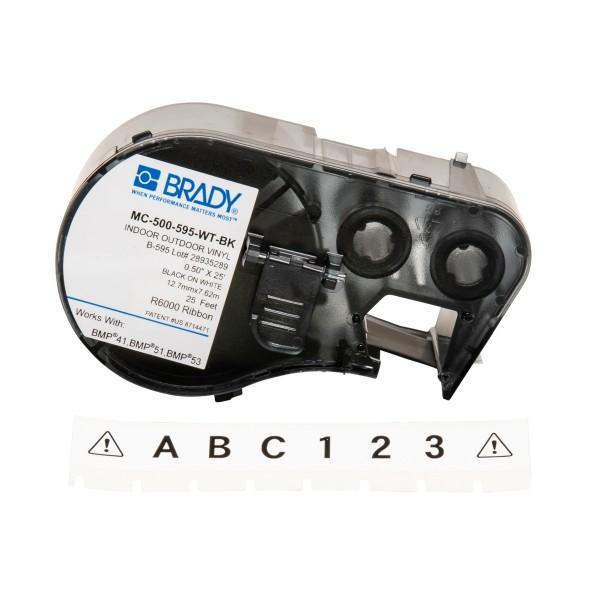 BRADY Band für BMP41/BMP51/BMP53 Etikettendrucker MC-500-595-WT-BK 143371