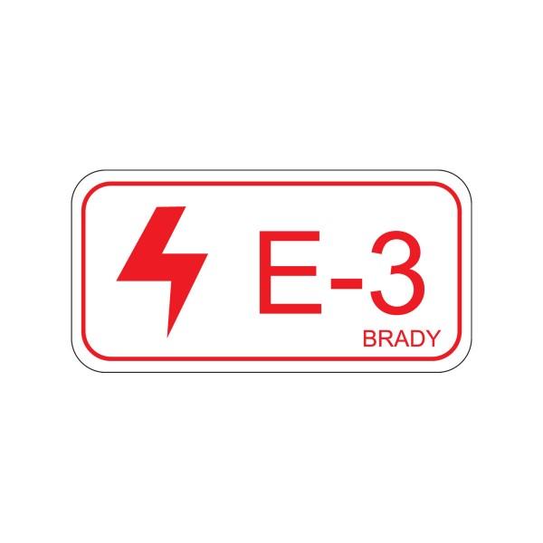 BRADY Etikett für Energiequellen–Elektrik ENERGY TAG-E-3-75X38MM-SA/5 138464