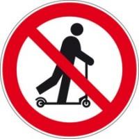 BRADY Verbotsschilder - Rollerfahren verboten PIC 631-DIA 200-B7541 223075